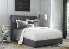 gray upholstered king sleigh bed from liberty 250