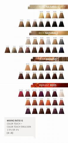 Wella Colour Id Chart Discover Colour Touch By Wella Wella Hair Color Chart