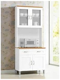white microwave cabinet stand hutch pantry cart