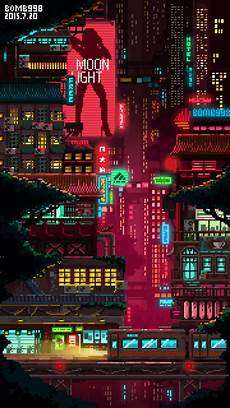 cyberpunk city iphone wallpaper cyberpunk pixel