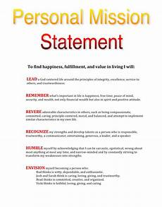 Mission Statement Sample My Personal Mission Statement Lead Today