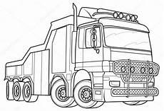 Ausmalbilder Lkw Daf Sketch Truck Stock Vector 169 Kopirin 58287123