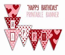 Free Happy Birthday Banner Printables Happy Birthday Banner Birthday Party Printable Sign Red