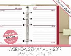 Agenda Semanal Imprim 237 Vel Agenda Semanal 2017 Personal No Elo7 Rabisco