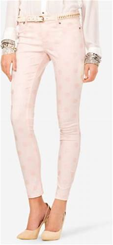 Light Pink Miss Me Jeans Forever 21 Polka Dot Skinny Jeans In Pink Light Pink Lyst