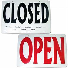 Closed For Business Sign Open Closed Double Sided Business Sign Sign Gp01 By