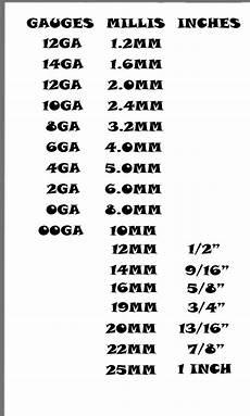 Ear Plug Size Chart Ear Gauge Size Chart Actual Size Ear Chart Gauged