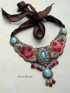 delicate embroidered jewelry by olga orlova magic