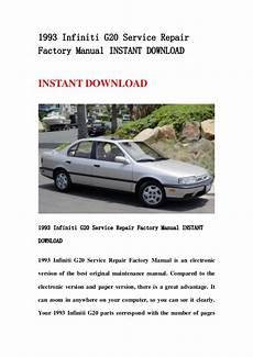 1993 Infiniti G Repair Manual Free Download 1993