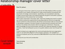Relationship Manager Cover Letter Relationship Manager Cover Letter