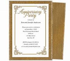 50th Anniversary Template Wedding Anniversary Party Templates Laurel Wedding
