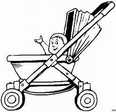 baby im kinderwagen ausmalbild malvorlage comics