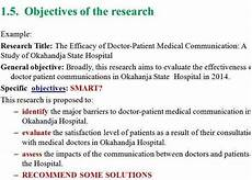 Research Objectives Examples Writing Good Research Objectives For Thesis