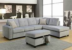 Gray Sectional Sofa 3d Image by Belville Sectional Sofa 52710 In Gray Velvet By Acme W Options