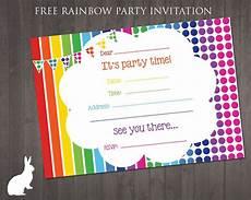 Free Printable Invitation Maker Free Rainbow Party Invitation Ruby And The Rabbit