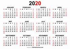 Printable Yearly Calendar 2015 2020 Free Yearly Calendar 2020