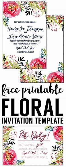 Design Invitations Online Free Printable Floral Invitation Template Free Printable Paper Trail