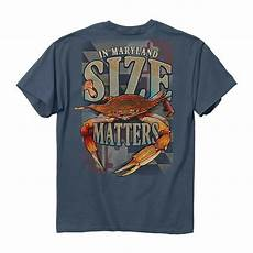 Crab T Shirt Designs New Size Matters In Maryland Crab T Shirt Maryland Flag Ebay