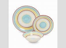 Essential Home Manta Stripes 12 Piece Dinnerware Set