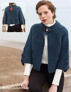 cropped raglan jacket knitting pattern