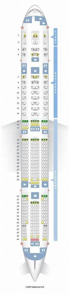 Boeing 777 300er Seating Chart Delta Seatguru Seat Map Delta Boeing 747 400 744 All Things
