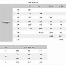 Size Chart Calvin Klein Calvin Klein W Brassiere F3785g Schreter S