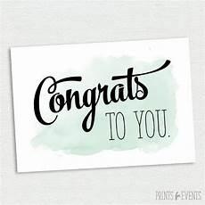 Congratulations Printable Card Printable Congratulations Card Graduation Card Mint And