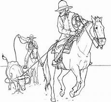 therapy coloring page horses cowboys on horseback 14
