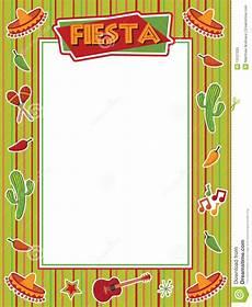 Fiesta Border Template Fiesta Frame Stock Vector Illustration Of Sombreo Star