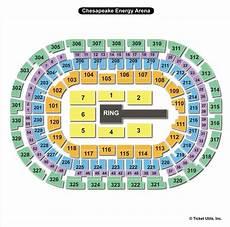 Chesapeake Energy Arena Oklahoma City Ok Seating Chart View