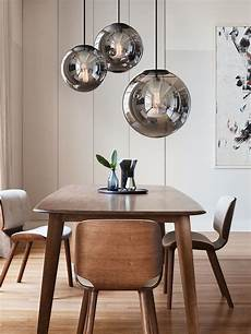 Glass Pendant Lights Over Dining Table Marcel 250mm Pendant In Smoke Black Dining Lighting