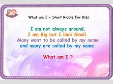 What am I ?   Short Riddles with Answers   Gift Our Precious