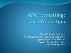 Apa Formatting For Powerpoint Ppt Apa Formatting An Introduction Powerpoint