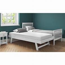 new modern white single guest visit bed with bed