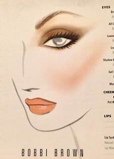 Face Chart Brown Brown Rescu Me Face Chart Makeup Face Charts