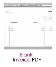 Printable Invoice Template Pdf Free Blank Invoice Templates 10 Sample Forms To Download