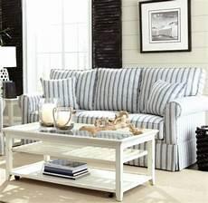 striped sofa ideas for a coastal nautical style