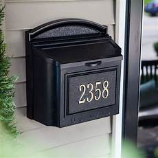 Business Mailbox Whitehall Personalized Wall Mount Mailbox Mailboxes At
