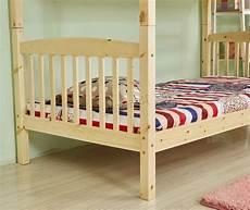 foxhunter 3ft wooden frame bunk bed wood children