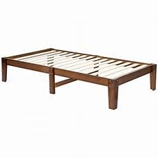 ktaxon 14 inch solid wood platform bed frame no box