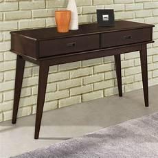 simpli home draper mid century console table reviews