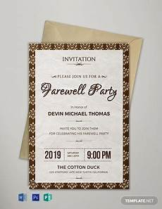 Farewell Invitation Samples 16 Farewell Card Template Word Pdf Psd Eps Free