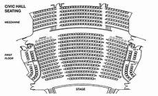 Usher Hall Seating Chart Seating Chart Box Office Civic Hall Performing Arts Center