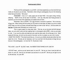 Autobiography Writing Template 7 Autobiography Outline Template Doc Pdf