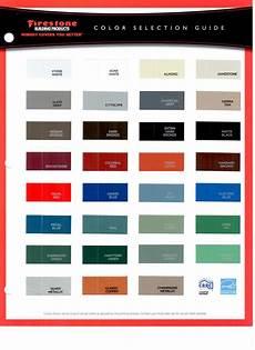 Firestone Sheet Metal Color Chart Firestone Una Clad Color Chart Pdf