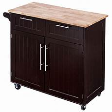 Costway Wooden Laundry Cabinet Bin Chest Storage Cupboard Home by Costway Costway Rolling Kitchen Cart Island Heavy Duty