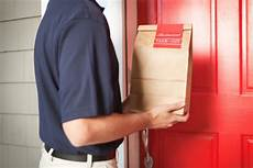 Office Takeout Takeout Delivery Man Delivering Food Package Order To