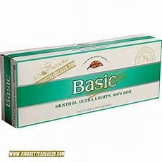 Sonoma Menthol Lights Basic Menthol Ultra Lights 100 S Silver Pack Box Free Fast