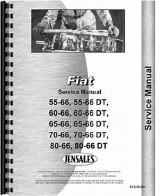 Fiat 55 66 Tractor Service Manual