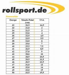 Fila Skates Size Chart Powerslide Size Chart